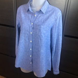 H&M L.O.G.G long sleeve button shirt size 6